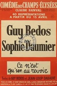 Sophie Daumier et Guy Bedos – Ce n'est qu'un au revoir